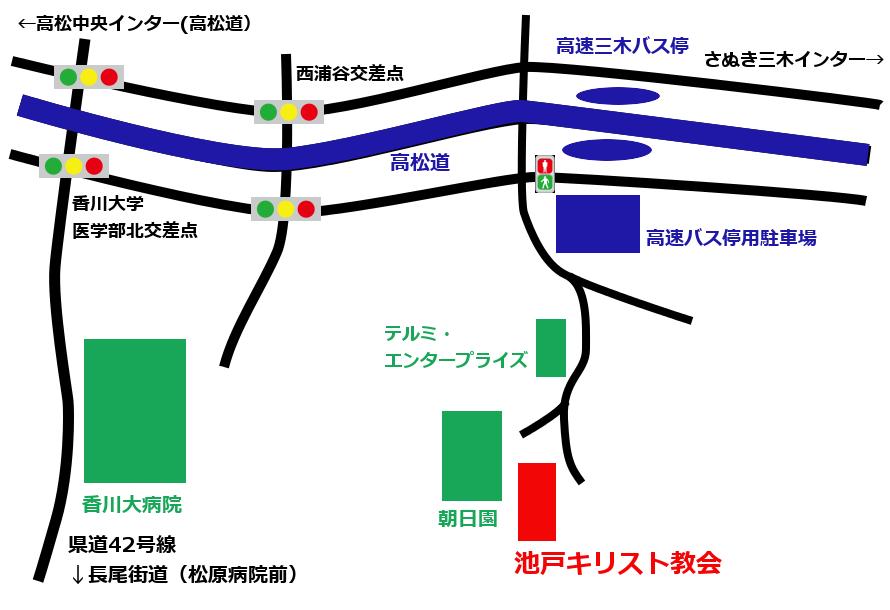 教会周辺地図画像